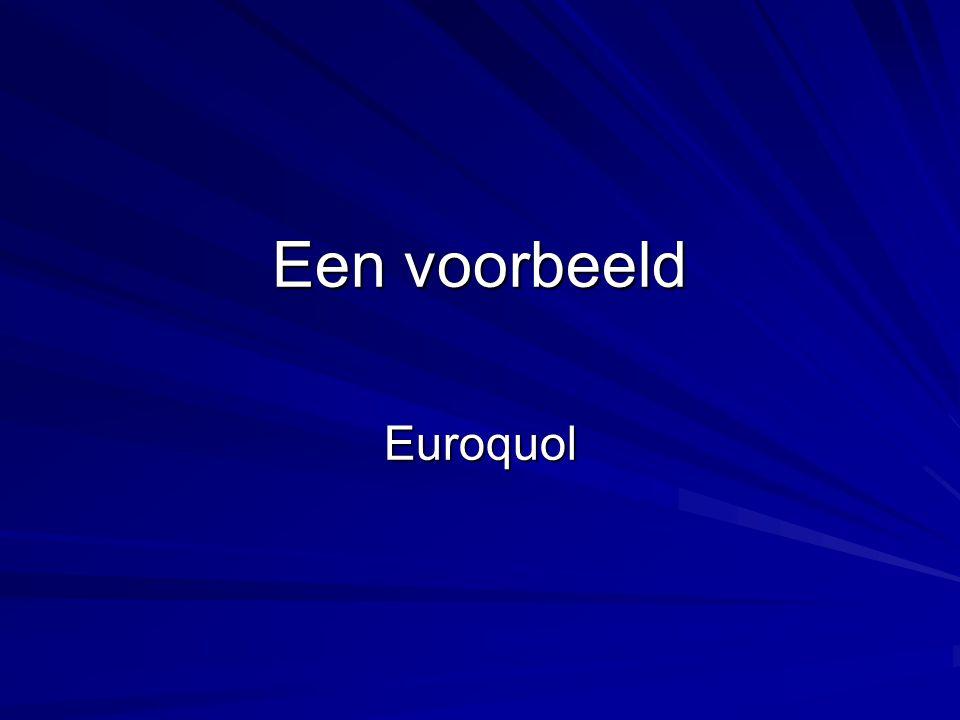 Een voorbeeld Euroquol