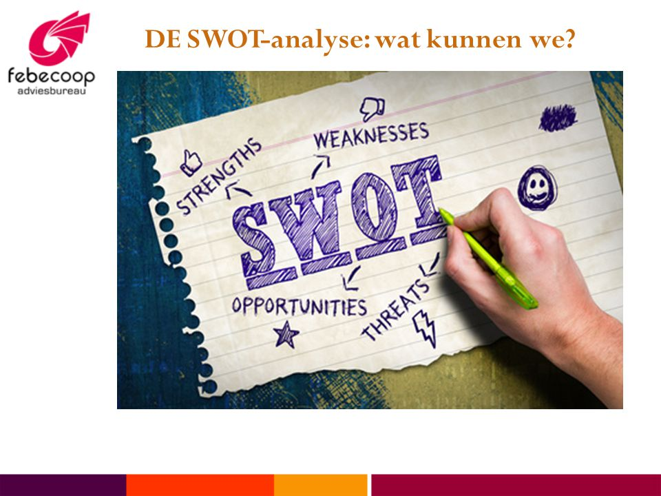 DE SWOT-analyse: wat kunnen we?