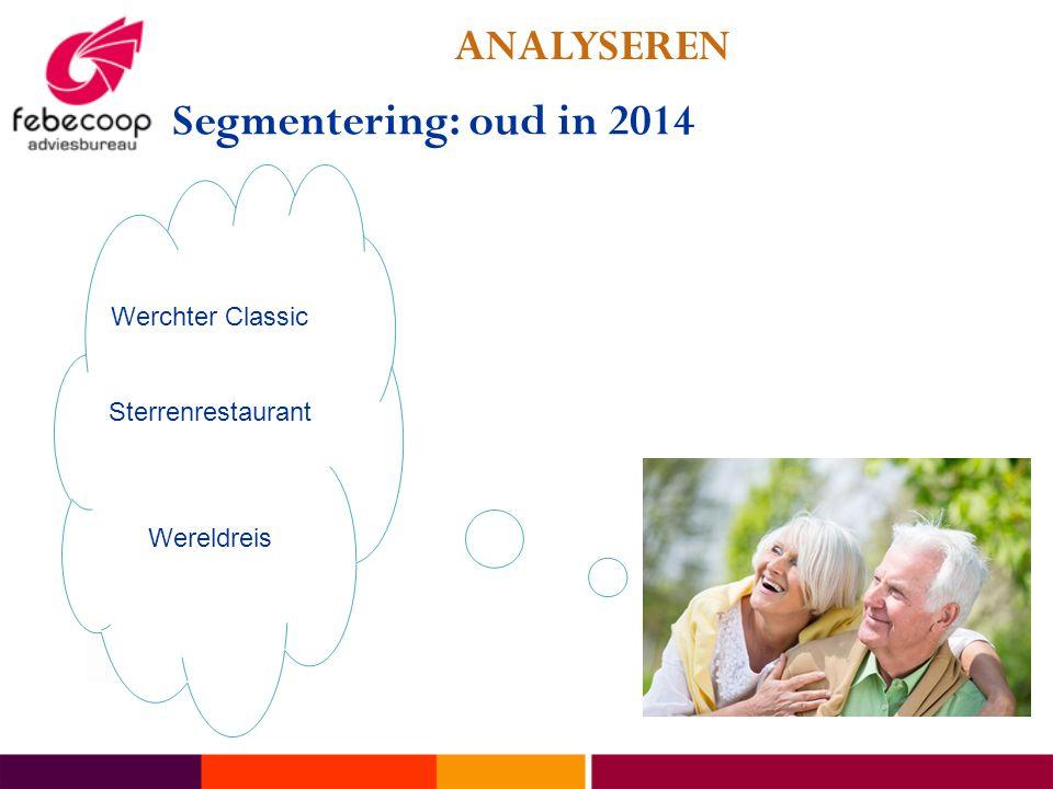 ANALYSEREN Segmentering: oud in 2014 Werchter Classic Sterrenrestaurant Wereldreis