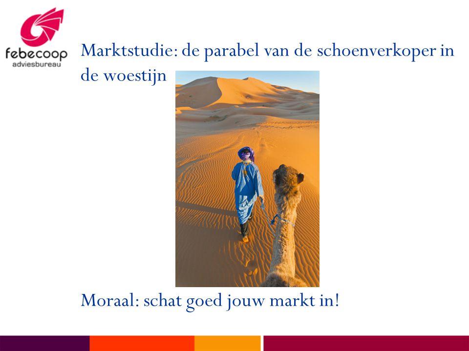 Marktstudie: de parabel van de schoenverkoper in de woestijn Moraal: schat goed jouw markt in!