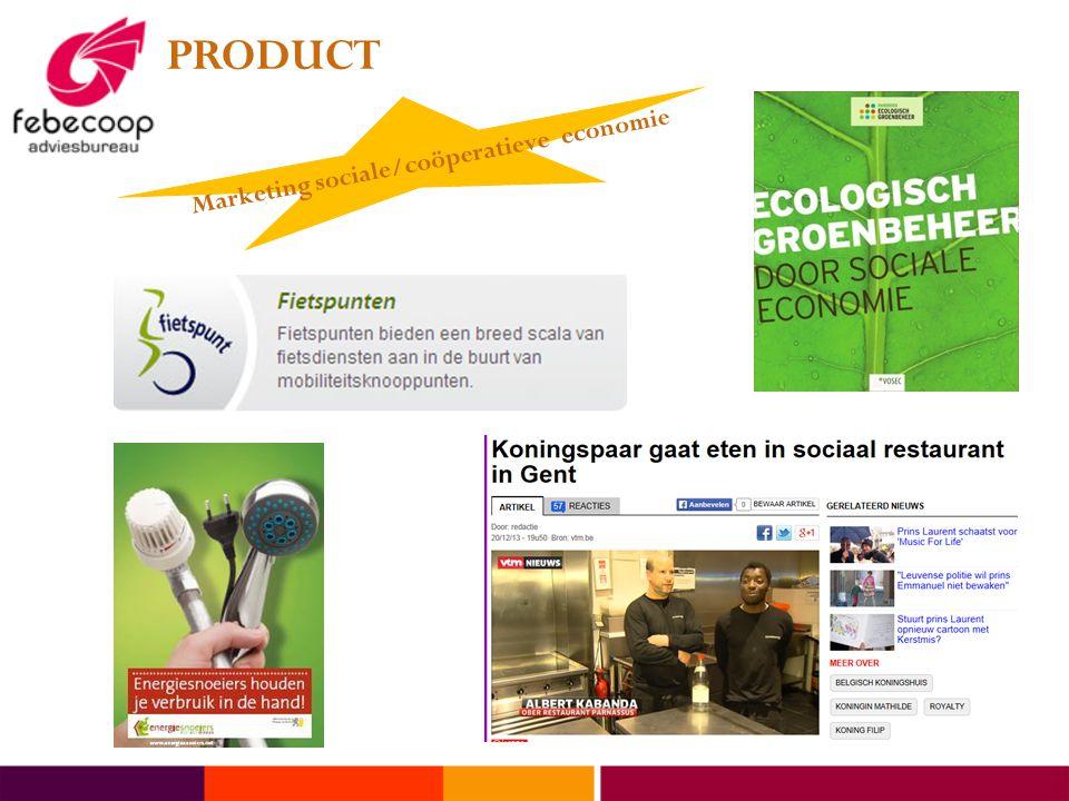 PRODUCT Marketing sociale/coöperatieve economie