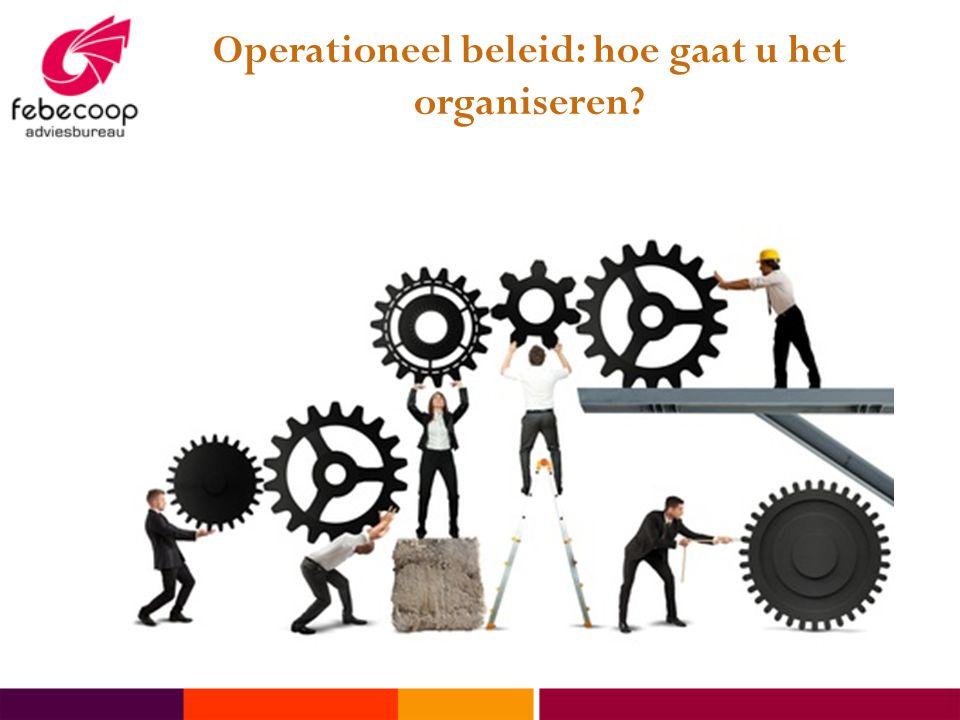 Operationeel beleid: hoe gaat u het organiseren?