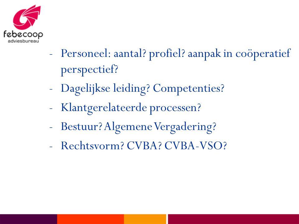 -Personeel: aantal.profiel. aanpak in coöperatief perspectief.