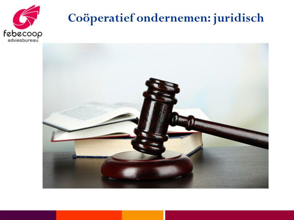Coöperatief ondernemen: juridisch