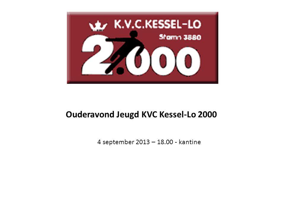 Ouderavond Jeugd KVC Kessel-Lo 2000 4 september 2013 – 18.00 - kantine