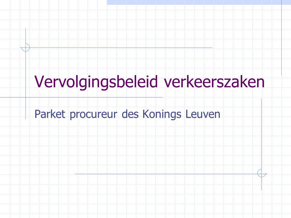 Vastgestelde overtredingen Parket procureur des Konings Leuven