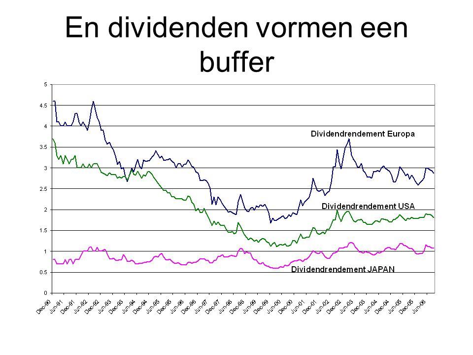 En dividenden vormen een buffer