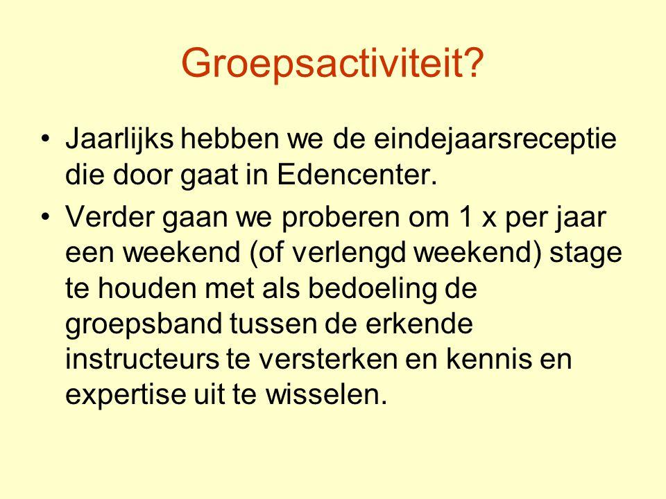 Groepsactiviteit.•Jaarlijks hebben we de eindejaarsreceptie die door gaat in Edencenter.