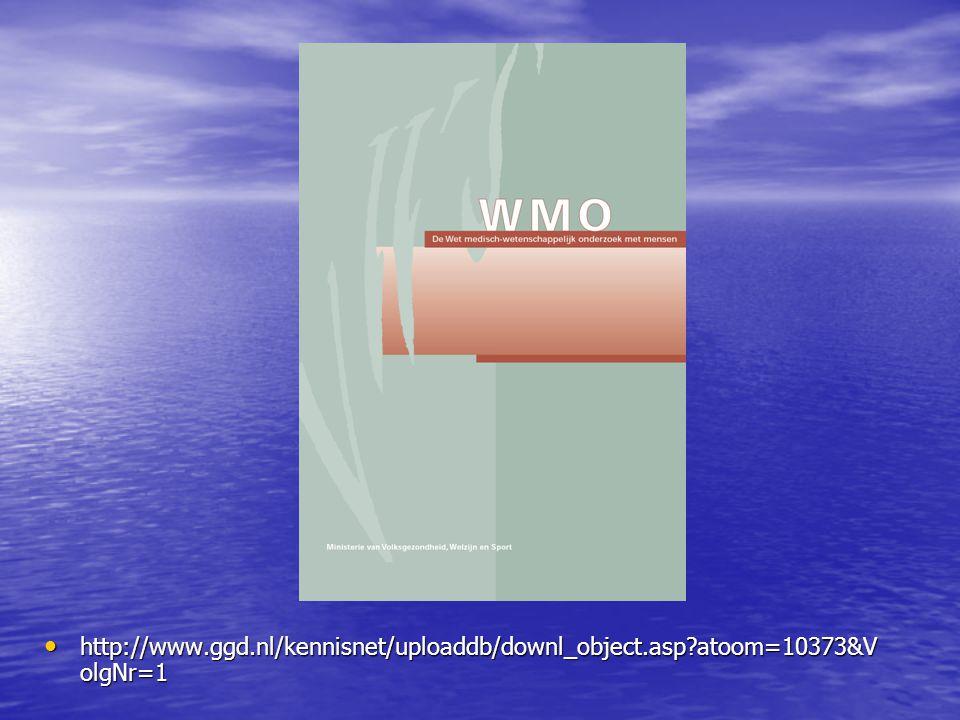 WMO: de reikwijdte van de wet • In 1997 door de Tweede Kamer aanvaard • In 1998 door de Eerste Kamer aanvaard • Op 1 december 1999 in werking getreden