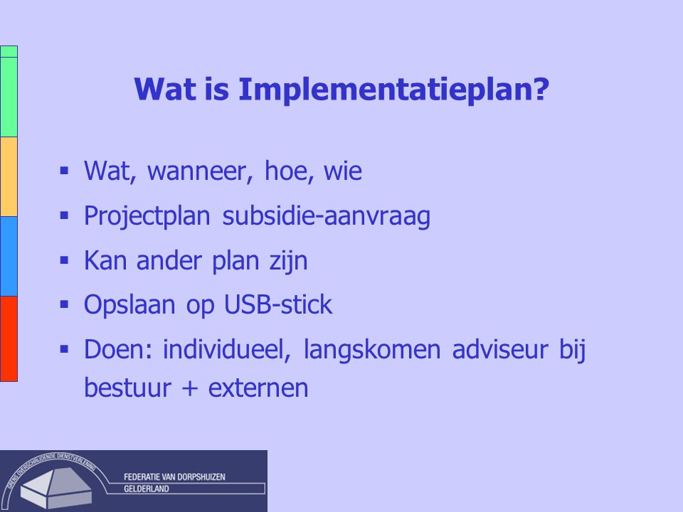 Wat is Implementatieplan.