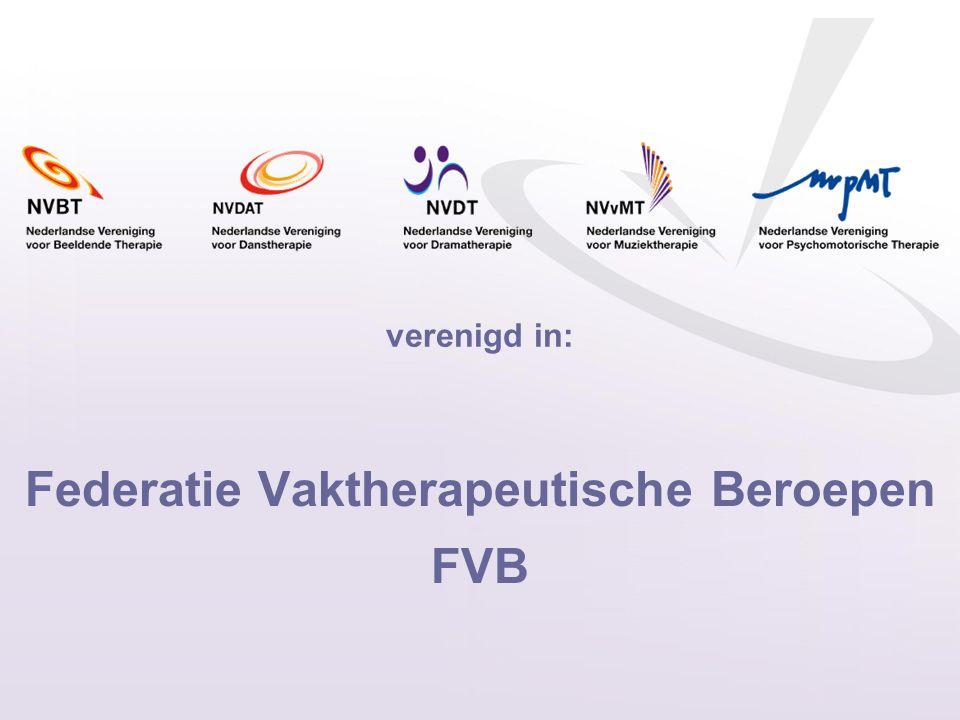 Federatie Vaktherapeutische Beroepen FVB verenigd in:
