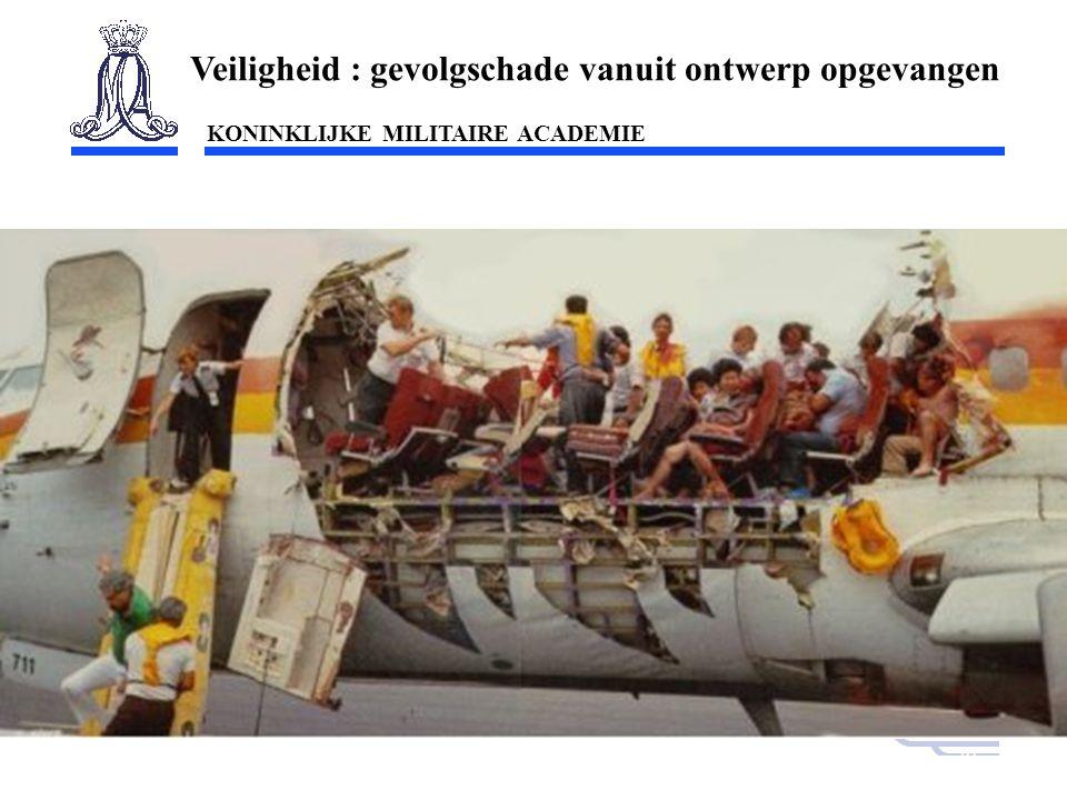 KONINKLIJKE MILITAIRE ACADEMIE Inleiding Technische wetenschappen : mobiliteit20 Aloha Airlines Veiligheid : gevolgschade vanuit ontwerp opgevangen