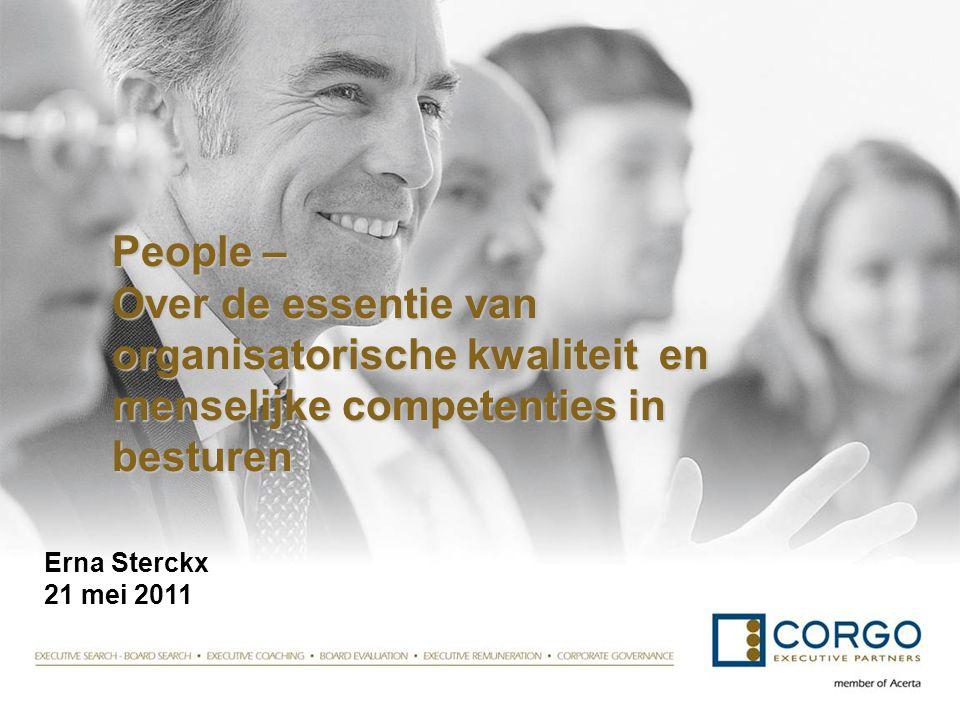 People – Over de essentie van organisatorische kwaliteit en menselijke competenties in besturen People – Over de essentie van organisatorische kwalite