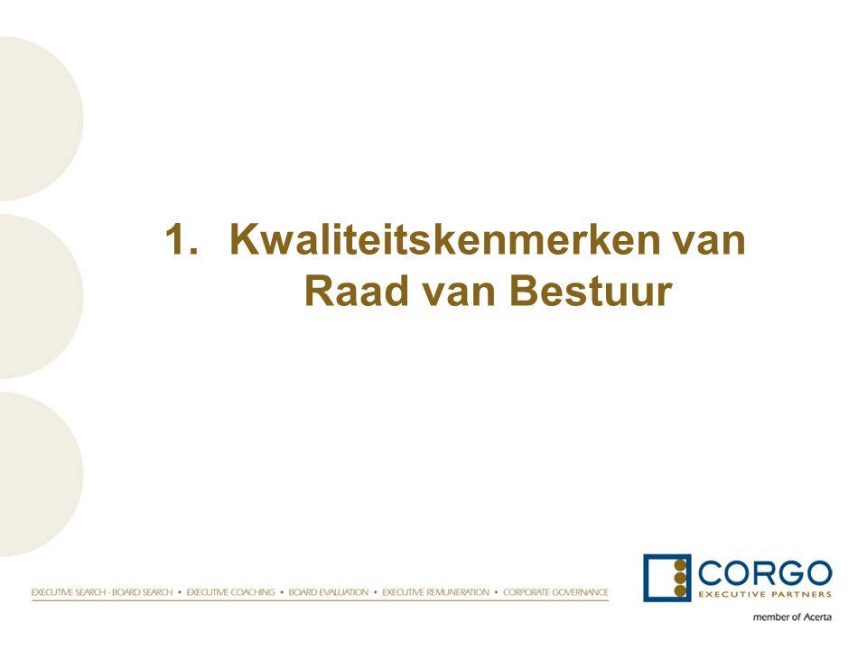 1.Kwaliteitskenmerken van Raad van Bestuur
