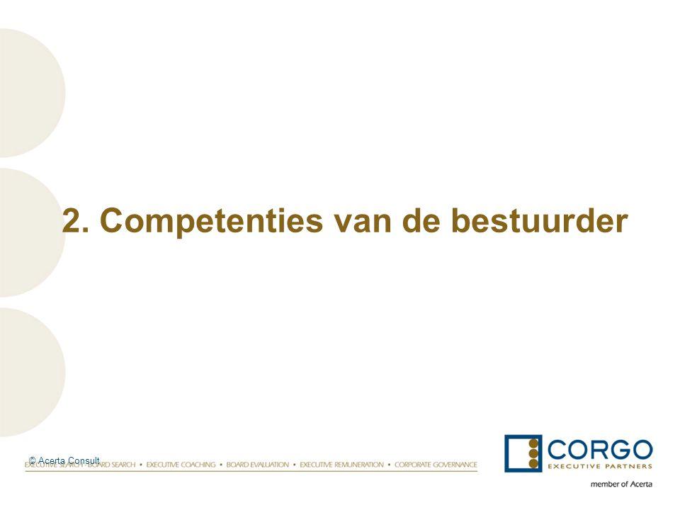 © Acerta Consult 2. Competenties van de bestuurder