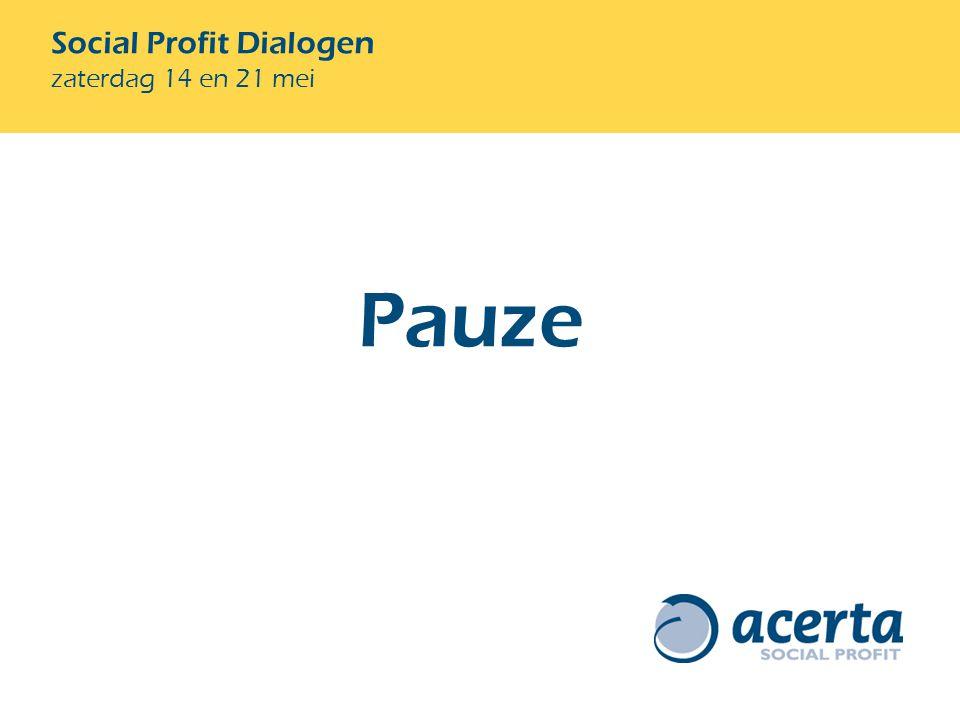 Social Profit Dialogen zaterdag 14 en 21 mei Pauze