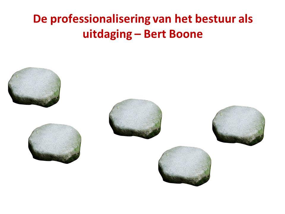 De professionalisering van het bestuur als uitdaging – Bert Boone