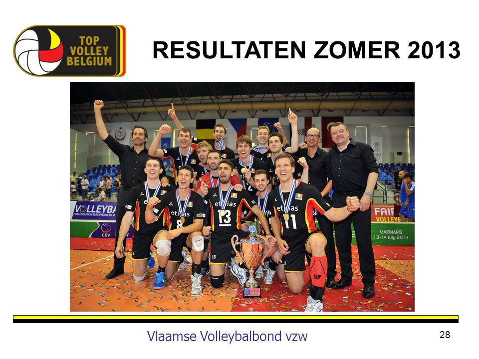 28 Vlaamse Volleybalbond vzw RESULTATEN ZOMER 2013