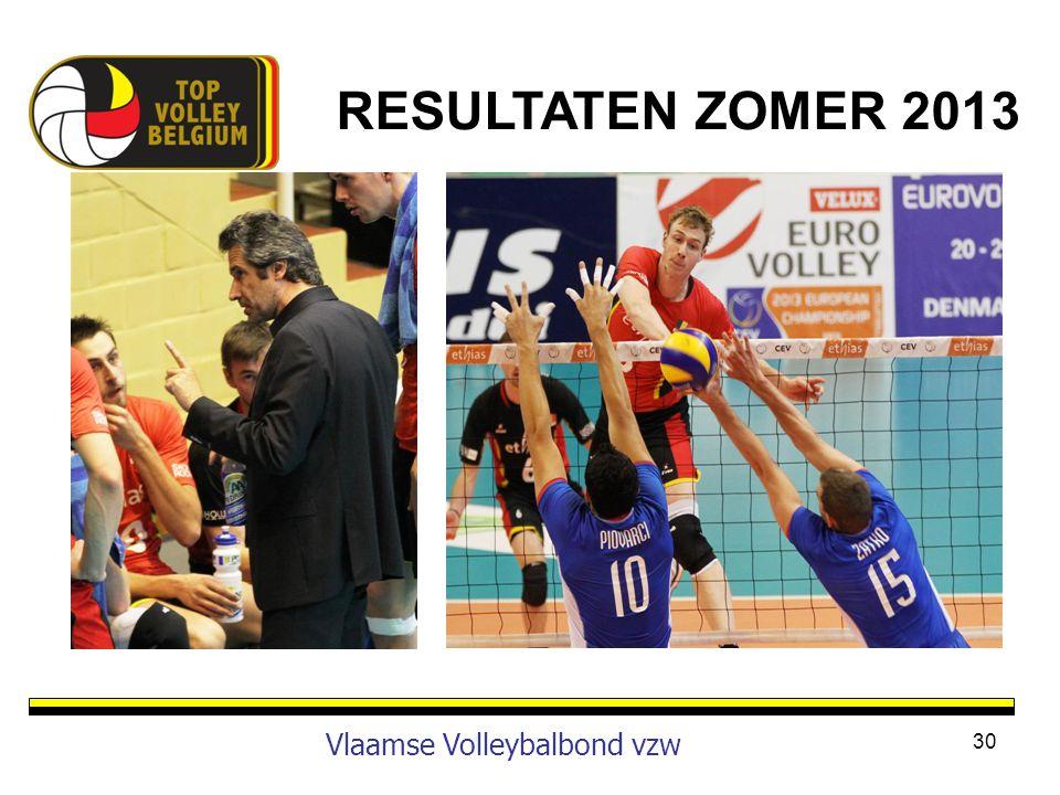 30 Vlaamse Volleybalbond vzw RESULTATEN ZOMER 2013
