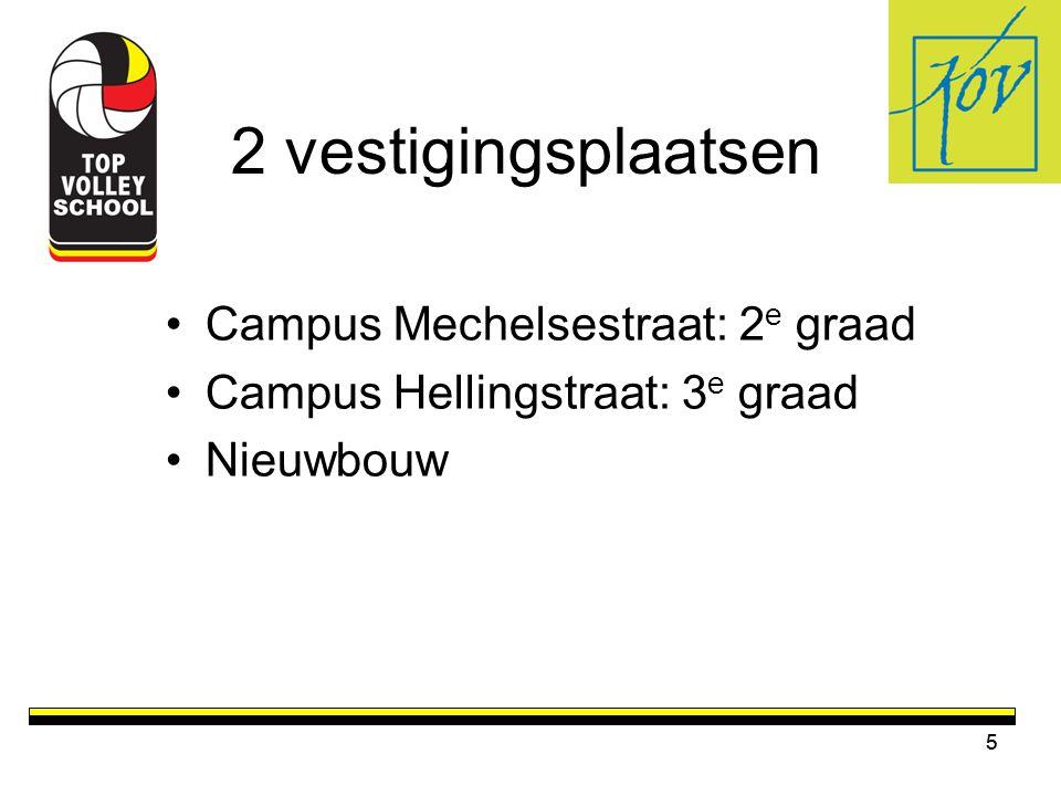 5 2 vestigingsplaatsen •Campus Mechelsestraat: 2 e graad •Campus Hellingstraat: 3 e graad •Nieuwbouw 5