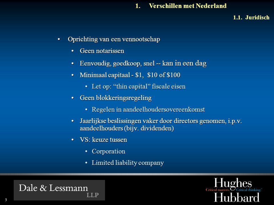 6 1.Verschillen met Nederland 1.1.