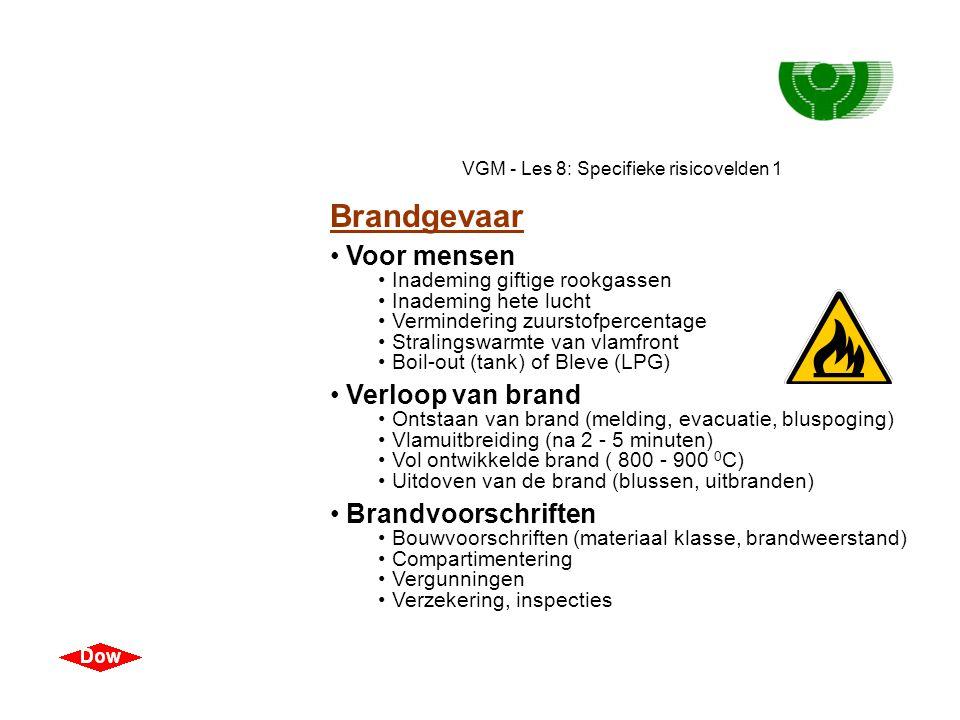 VGM - Les 8: Specifieke risicovelden 1 Explosiegevaar • Fysische explosie • Bezwijken door inwendige druk of verzwakking • Chemische explosie • Hetero