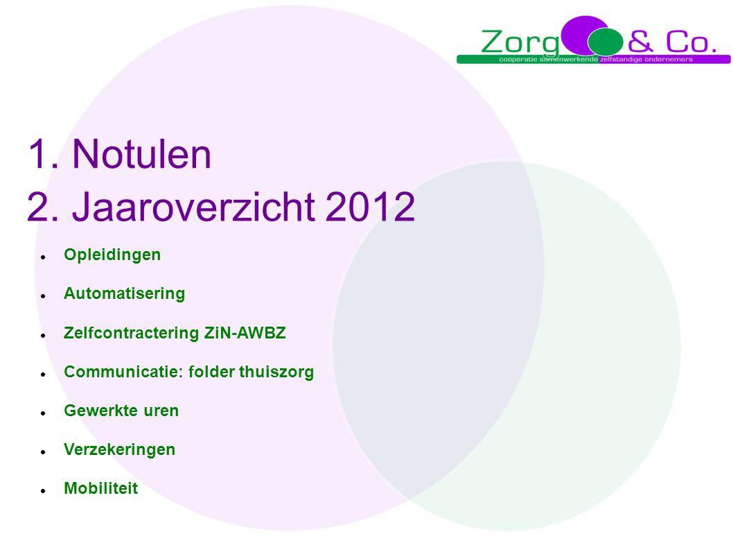 6.Aanbesteding WMO Leden Zorg & Co overleggen over de kansen (WMO- werkgroep); samen aanbesteden.
