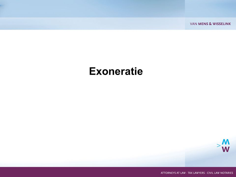 15 Exoneratie