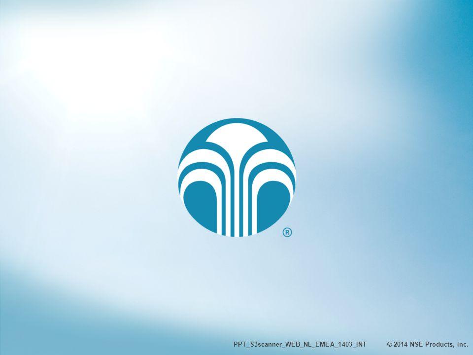 HARTELIJK DANK PPT_S3scanner_WEB_NL_EMEA_1403_INT © 2014 NSE Products, Inc.