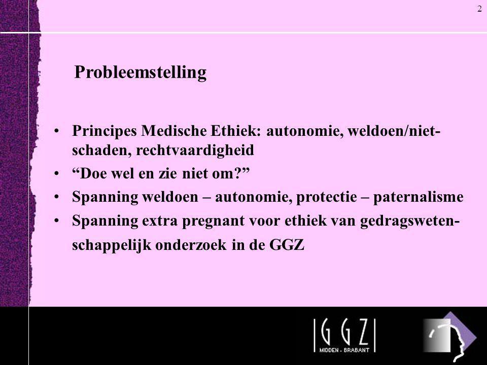 """Probleemstelling •Principes Medische Ethiek: autonomie, weldoen/niet- schaden, rechtvaardigheid •""""Doe wel en zie niet om?"""" •Spanning weldoen – autonom"""
