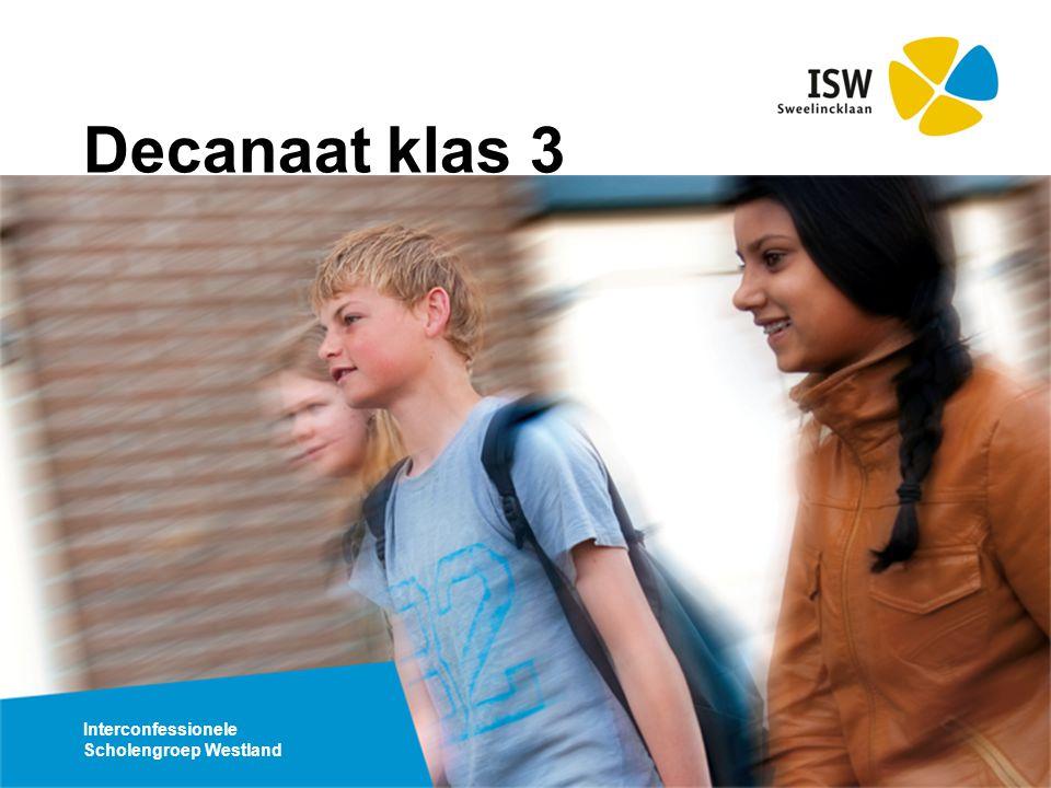 Interconfessionele Scholengroep Westland Decanaat klas 3