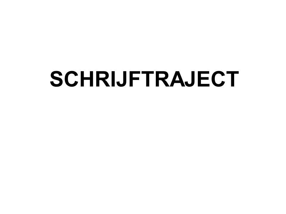SCHRIJFTRAJECT