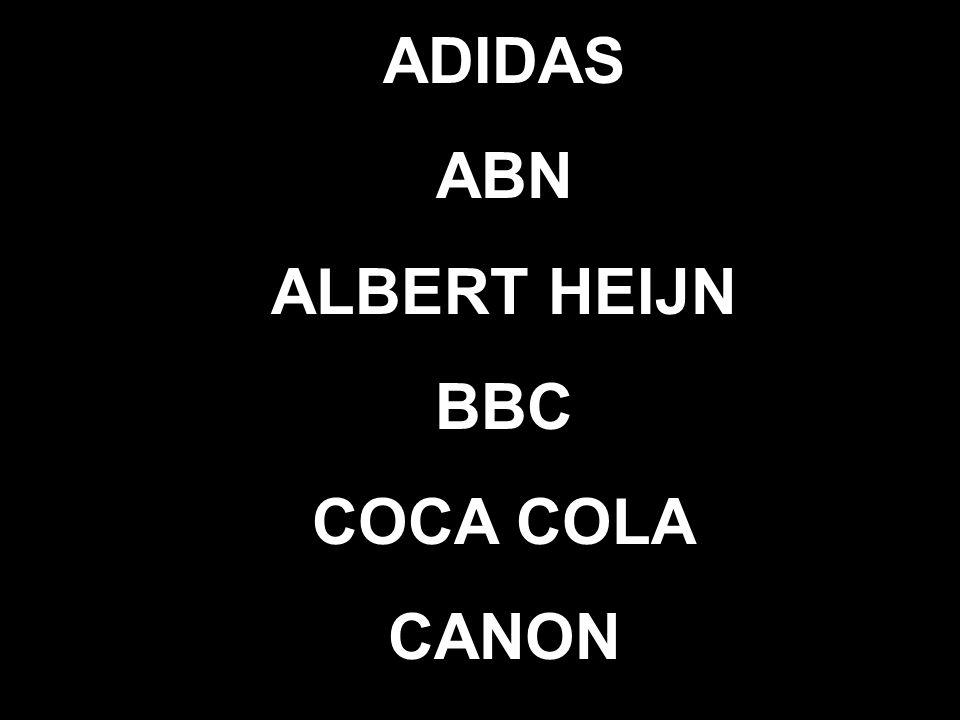 ADIDAS ABN ALBERT HEIJN BBC COCA COLA CANON