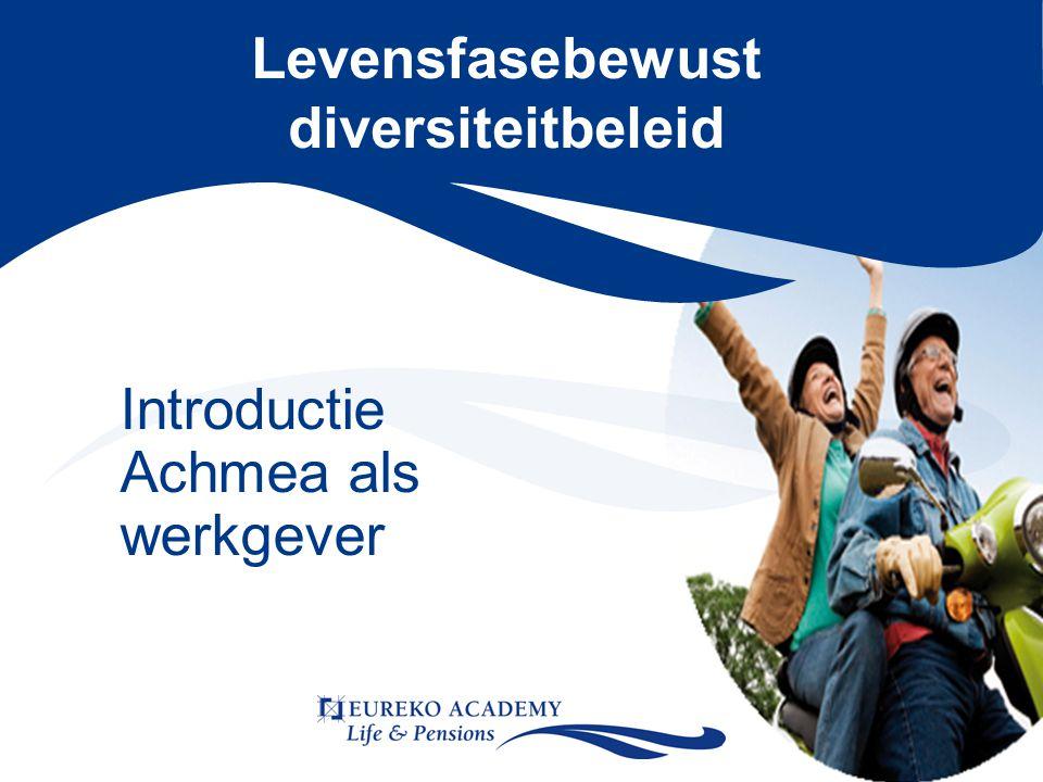 Levensfasebewust diversiteitbeleid Introductie Achmea als werkgever