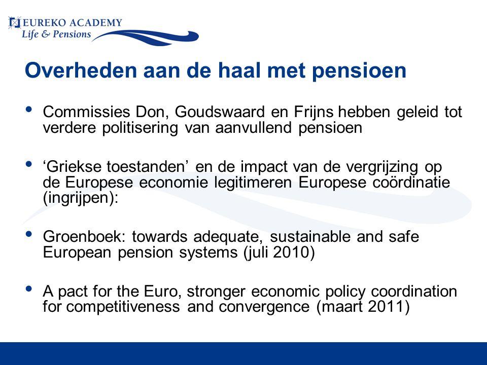 Overheden aan de haal met pensioen • Commissies Don, Goudswaard en Frijns hebben geleid tot verdere politisering van aanvullend pensioen • 'Griekse to