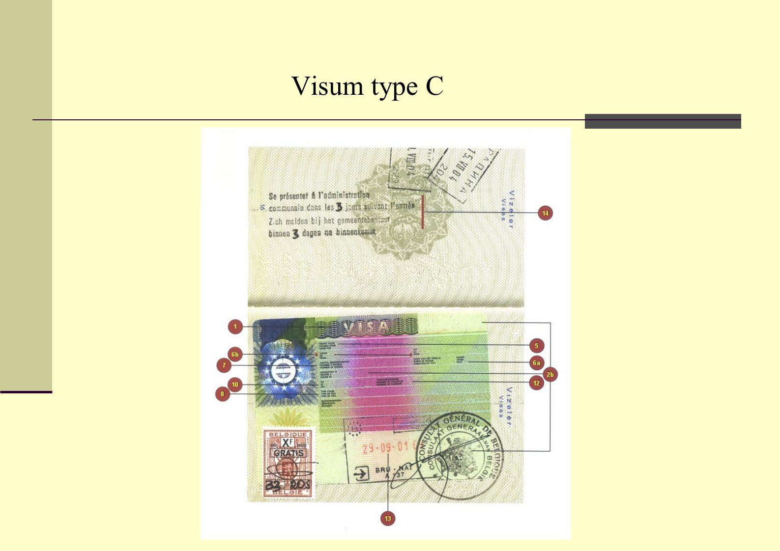 Visum type C