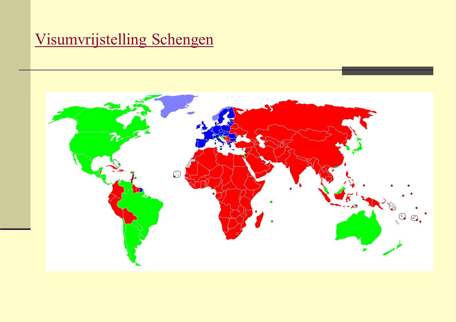 Visumvrijstelling Schengen