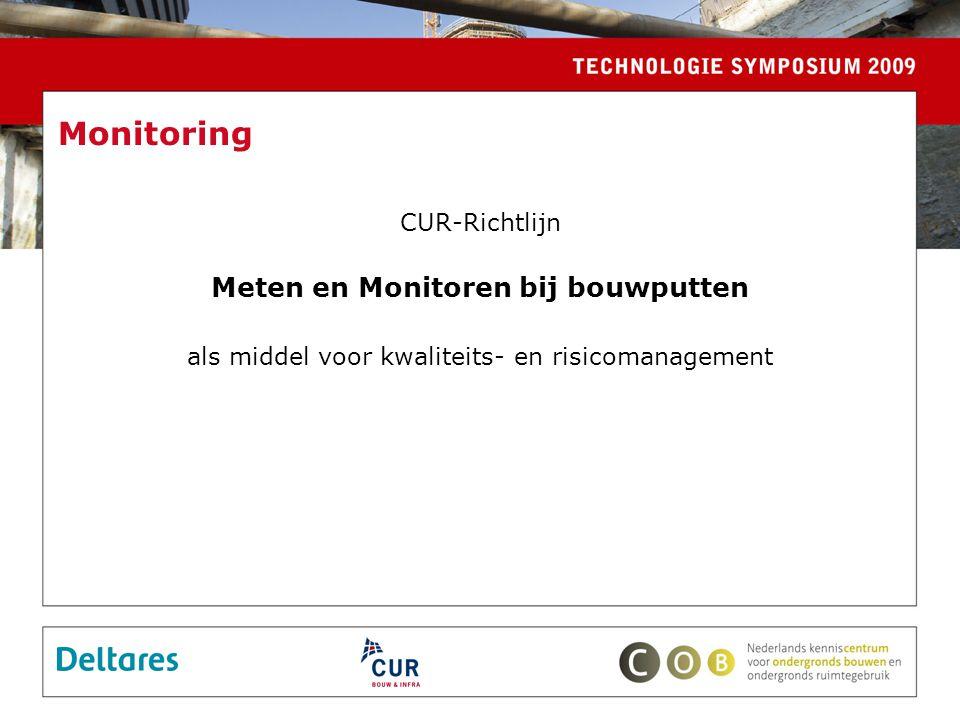 Monitoring CUR-Richtlijn Meten en Monitoren bij bouwputten als middel voor kwaliteits- en risicomanagement