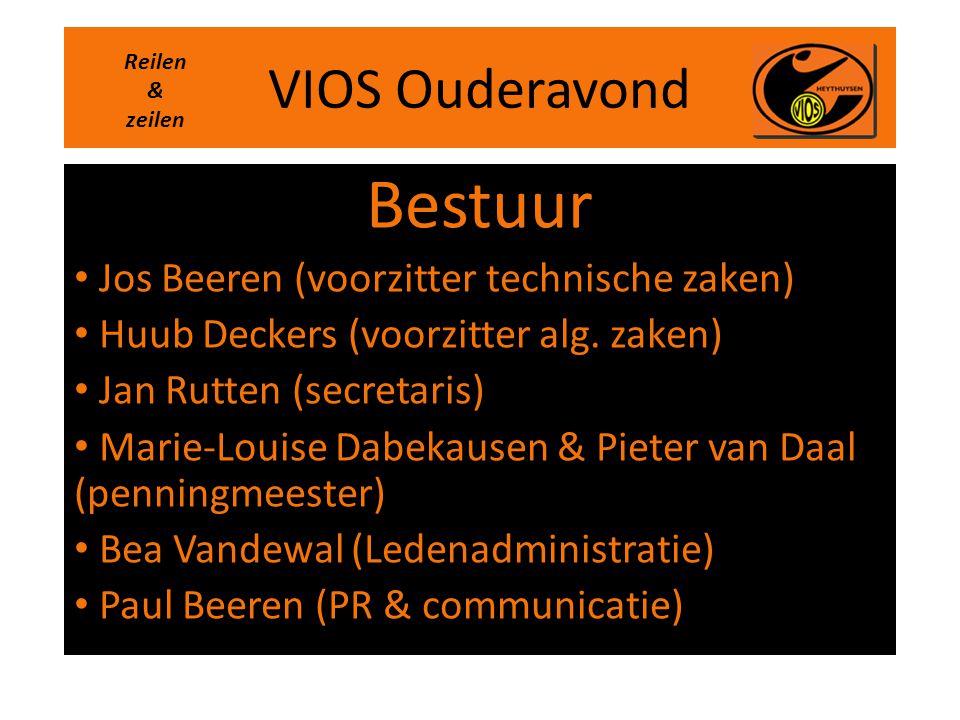 VIOS Ouderavond Bestuur • Jos Beeren (voorzitter technische zaken) • Huub Deckers (voorzitter alg. zaken) • Jan Rutten (secretaris) • Marie-Louise Dab