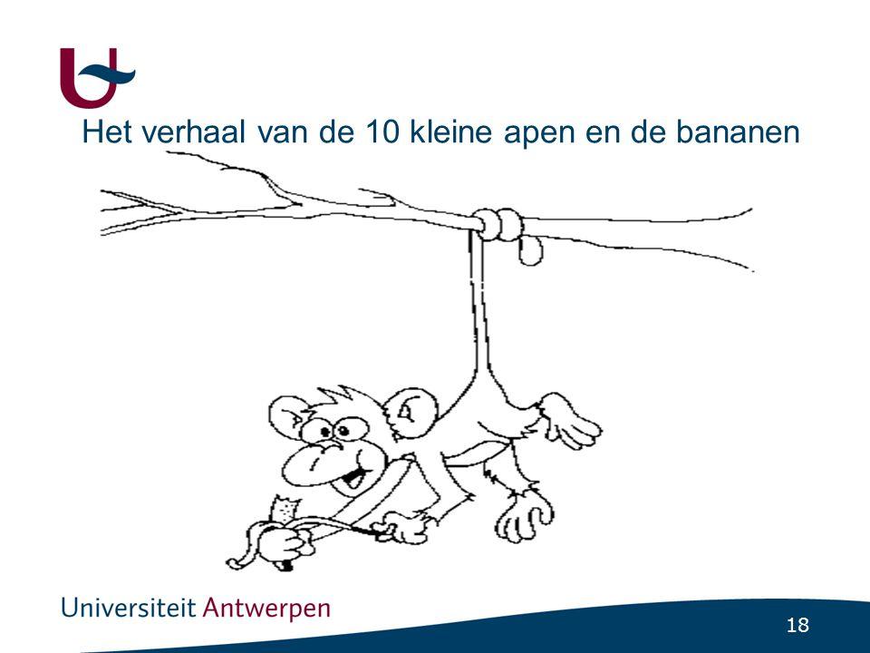 18 Het verhaal van de 10 kleine apen en de bananen