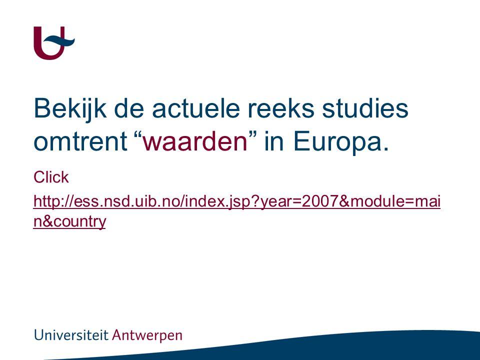 Bekijk de actuele reeks studies omtrent waarden in Europa.