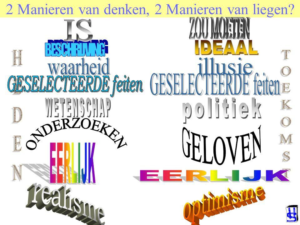 © 2006 JP van de Sande RuG 2 Manieren van denken, 2 Manieren van liegen?