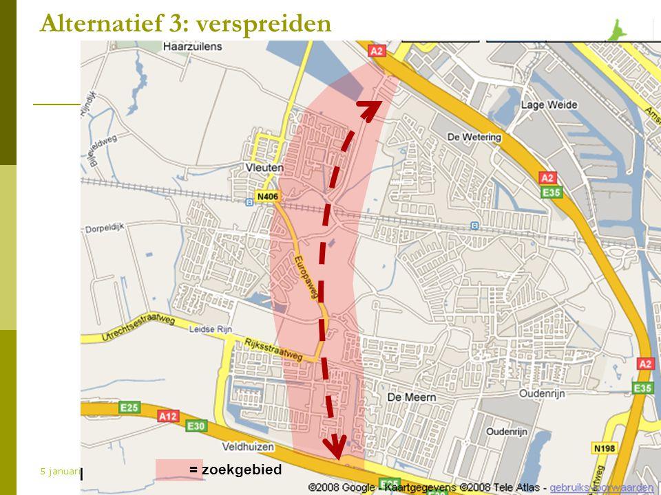 www.natuurlijkvleuterweide.nl 5 januari 2009 Alternatief 3: verspreiden = zoekgebied