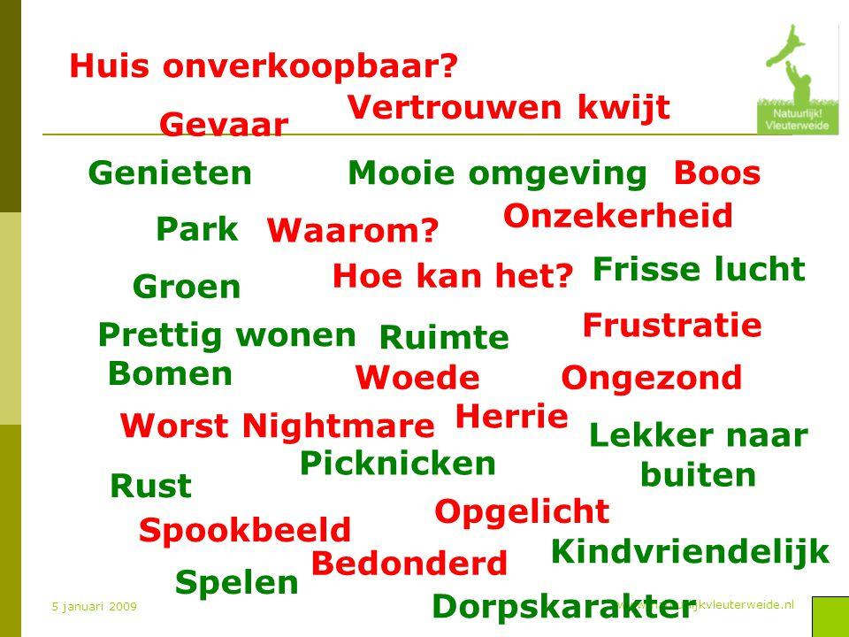www.natuurlijkvleuterweide.nl 5 januari 2009 Woede Groen Hoe kan het.