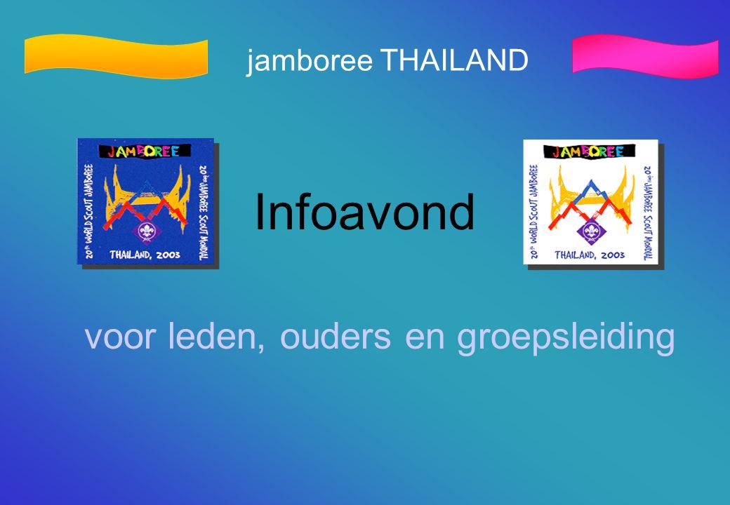 jamboree THAILAND Infoavond voor leden, ouders en groepsleiding