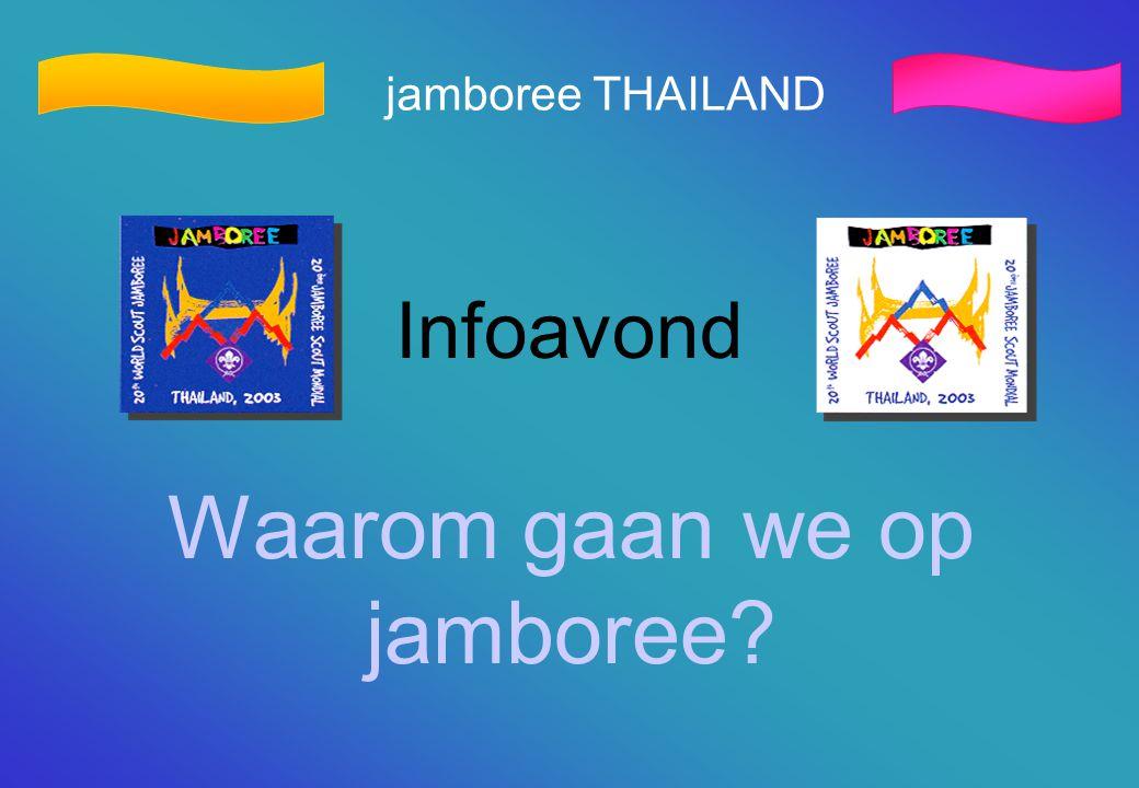 jamboree THAILAND Infoavond Waarom gaan we op jamboree?