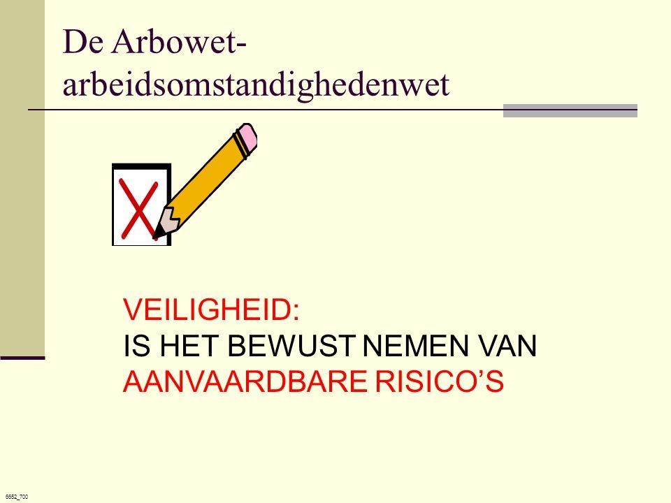 6652_700 VEILIGHEID: IS HET BEWUST NEMEN VAN AANVAARDBARE RISICO'S De Arbowet- arbeidsomstandighedenwet
