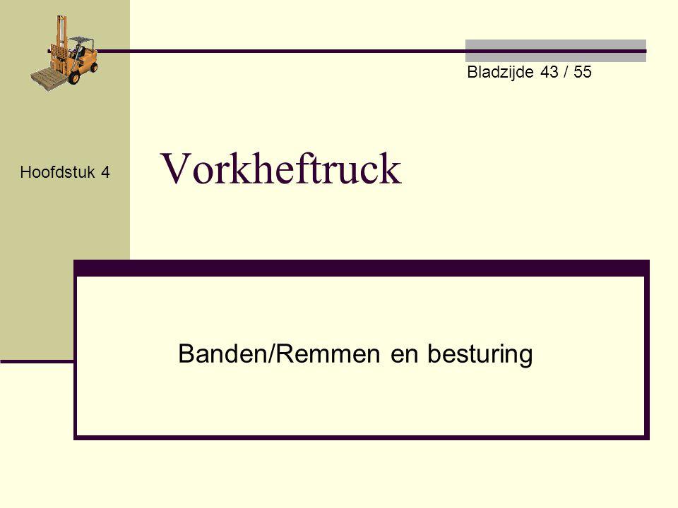 Vorkheftruck Banden/Remmen en besturing Hoofdstuk 4 Bladzijde 43 / 55