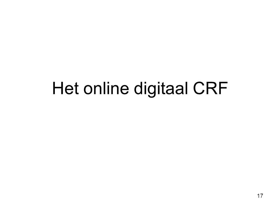 17 Het online digitaal CRF