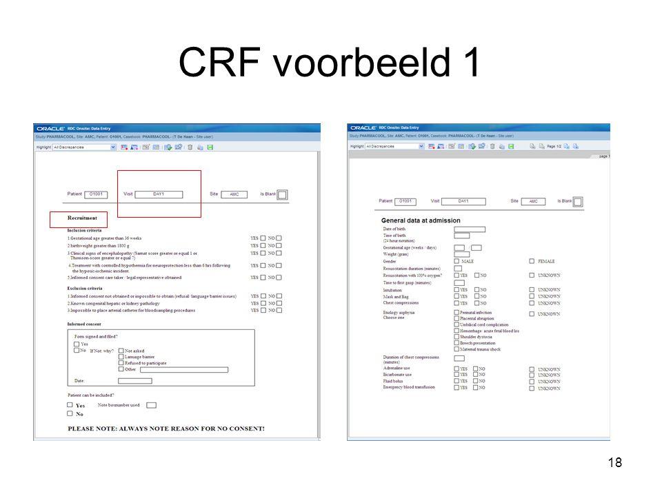 18 CRF voorbeeld 1